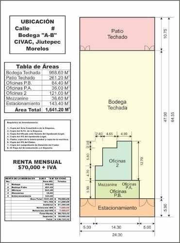 (crm-3635-52)  bodegas civac industrial