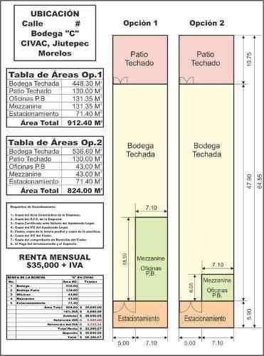 (crm-3635-53)  bodegas civac industrial 1