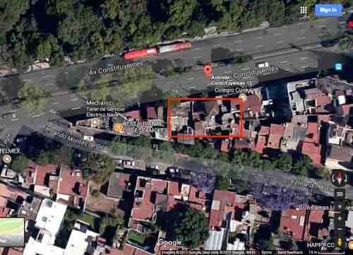 (crm-3816-3382)  terreno en renta de 400 m2 en av. constituyentes, miguel hidalgo
