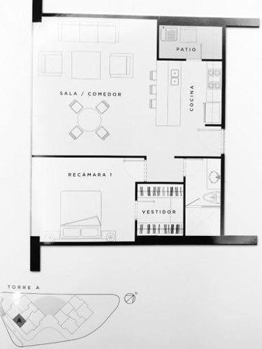 (crm-3816-3592)  skg  vende departamento de 80 m2, en residencial terrace, interlomas