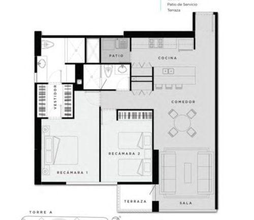 (crm-3816-3604)  skg asesores vende departamento de 2 recámaras en terrace interlomas