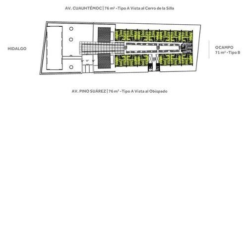 (crm-4035-515)  venta  departamentos centro de monterrey nuevo león