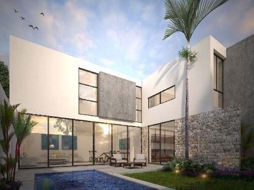 (crm-4184-1447)  casa en venta en merida, privada residencial barlovento, temozon mod.b