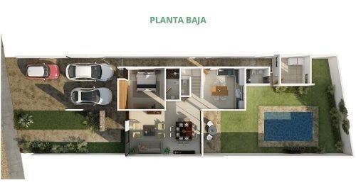 (crm-4184-1495)  privada albarella, el mejor lugar para tu hogar en mérida, mod. g