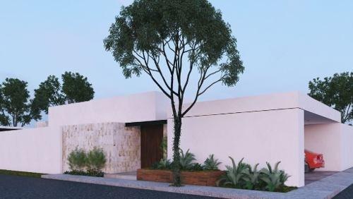 (crm-4184-2099)  casa en venta en merida, temozon norte ¡una planta y en esquina!