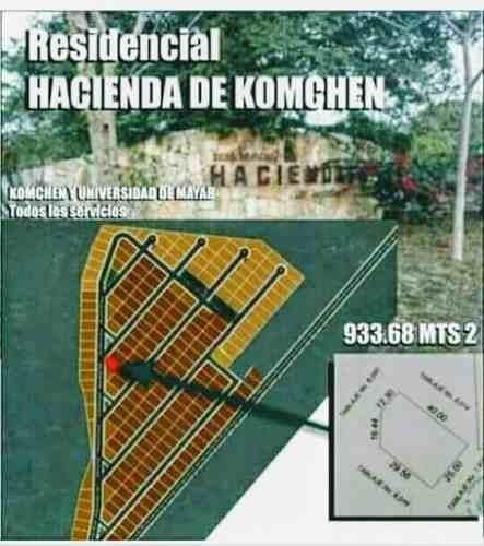 (crm-4184-2153)  terreno en venta en hacienda komchen