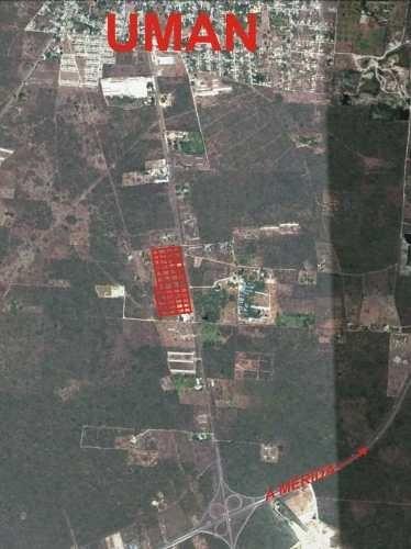 (crm-4184-2379)  terreno en venta sobre carretera, umán, yucatán