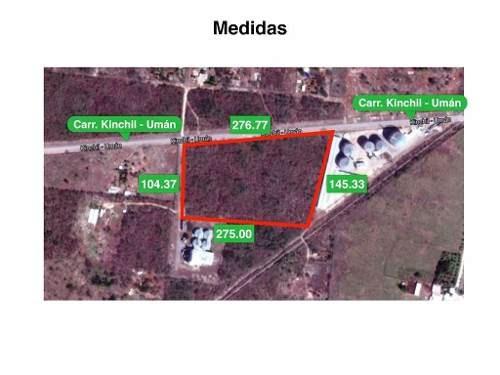 (crm-4184-2409)  terreno comercial en venta en uman, yucatan cerca de merida