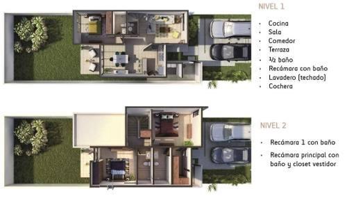 (crm-4184-2477)  casa en venta en merida, zensia parque residencial, modelo d