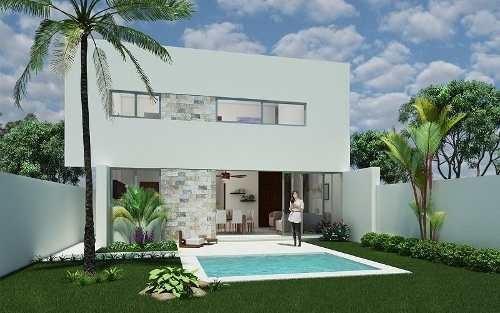 (crm-4184-463)  casa en venta, privada conkal - modelo b