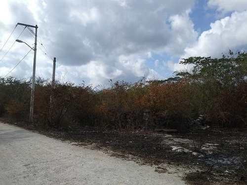 (crm-4184-927)  terreno en venta en merida, sierra papacal con acceso en calle blanca