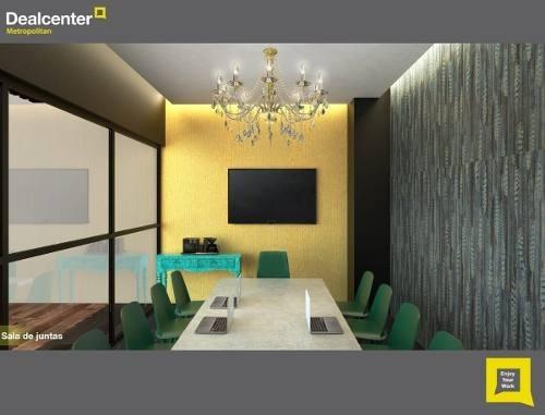 (crm-431-2666)  oficina amueblada en renta metropolitan center