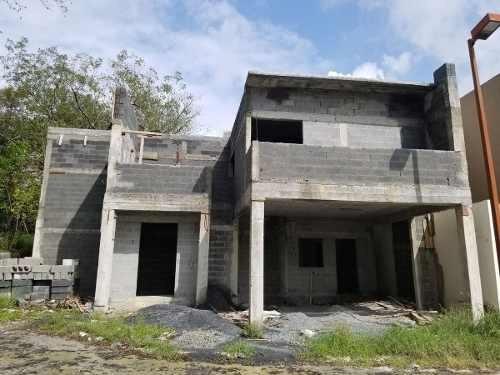 (crm-431-2826)  venta casa obra gris, residencial bosques de san jose, santiago, n.l.