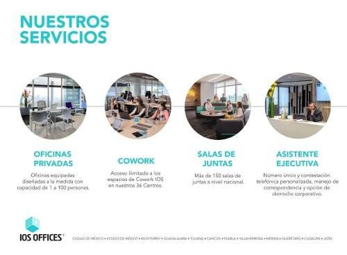 (crm-4812-634)  oficina renta ios office centro sur 10 personas $37,695 hugrod eqg1