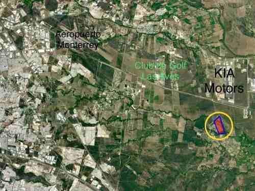 (crm-4817-16)  terreno industrial / habitacional a 2km kia motors