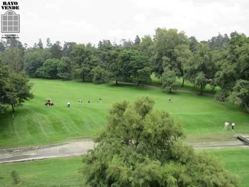 (crm-5206-1001)  departamento club de golf mexico con vista al campo