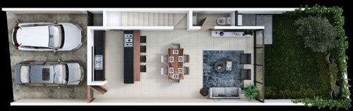 (crm-5360-140)  bonita privada maculi townhouse cholul