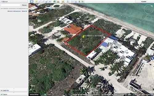 (crm-5360-227)  3 lotes frente al mar en san benito yucatan