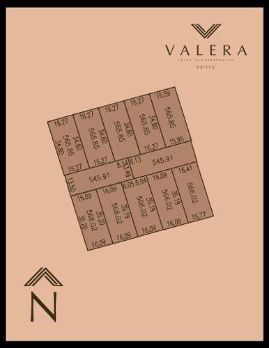 (crm-5360-298)  valera dzityá, lotes residenciales con servicios subterráneos, precio