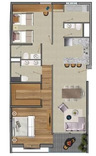 (crm-5571-2209)  departamento en venta - kansas 65-101