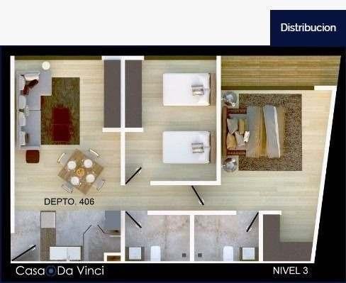 (crm-5571-2519)  departamento en venta - casa da vinci - 206