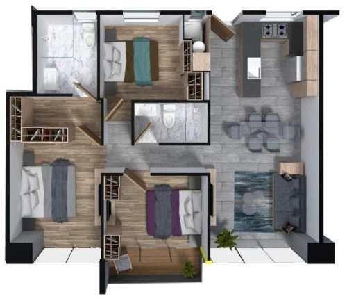 (crm-5571-2928)  departamento en venta - baikal residencial - 403