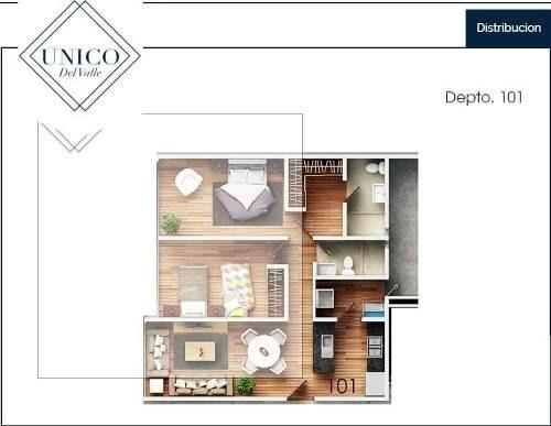 (crm-5571-2988)  departamento en venta - único del valle - 101
