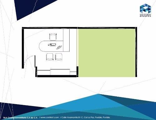 (crm-559-266)  oficina en renta con baño privado