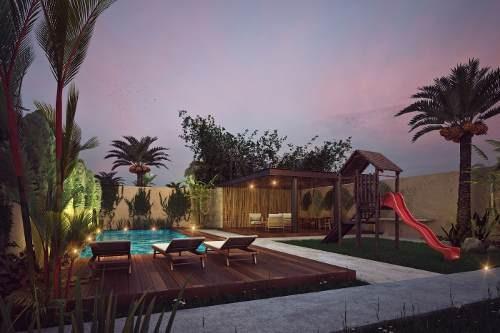 (crm-5832-26)   casa en playa del carmen ¨arcos bambú¨inversión oportunidad