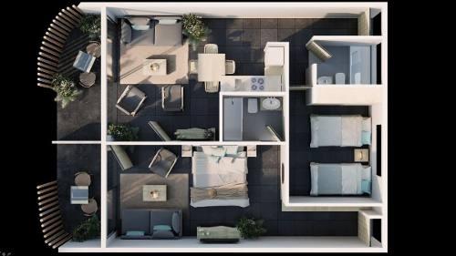 (crm-5832-59)  departamento zulim tulum arquitectura inigualable ecologico