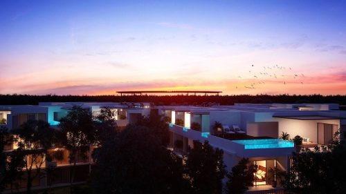 (crm-5832-70)  departamento panoramic tulum lujo oportunidad plusvalía