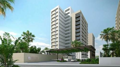 (crm-60-1345)  departamento venta cancún en brezza towers zona el table