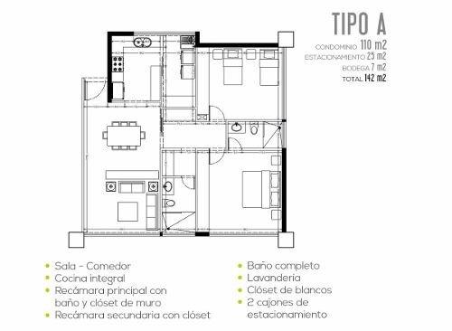 (crm-60-1354)  departamento venta cancún en brezza towers zona el table