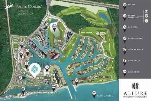 (crm-60-1411)  departamento en venta allure puerto cancún