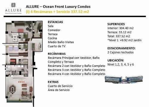 (crm-60-1414)  departamento venta en allure puerto cancun