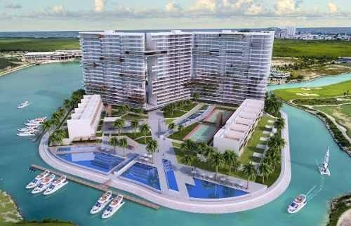 (crm-60-1934)  departamento en venta puerto cancún en el desarrollo marea