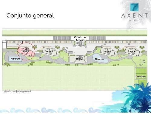 (crm-60-1991)  pre-venta departamento axent puerto cancún