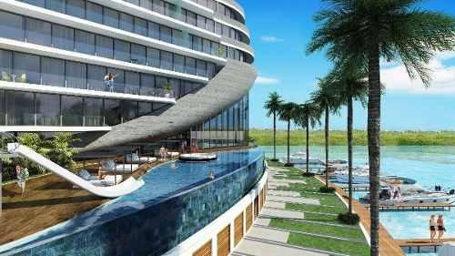 (crm-60-2021)  departamento en pre-venta puerto cancun, shark tower
