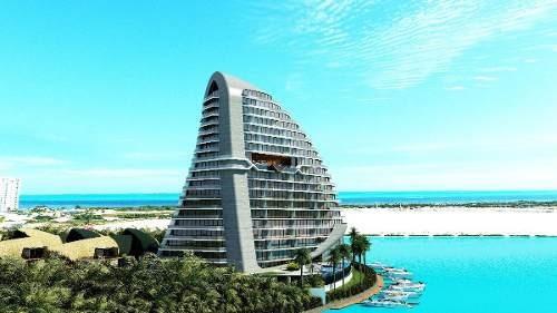(crm-60-2043)  departamento en pre-venta puerto cancun shark tower