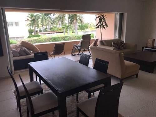 (crm-60-2212)  departamento en venta cancún isla real con vista a la laguna