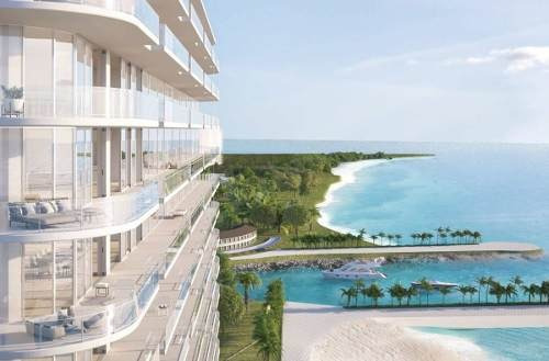 (crm-60-2224)  departamento de lujo  en pre- venta sls harbour beach cancún