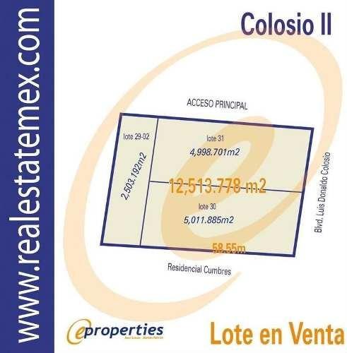 (crm-60-420)  terreno sobre el bouleverd luis donaldo colosio