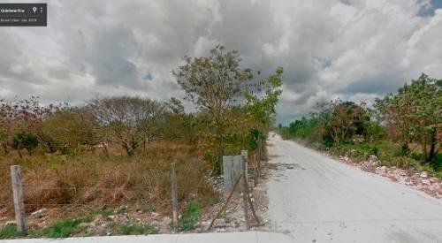 (crm-60-526)  terreno en venta en el ejido rancho viejo isla mujeres