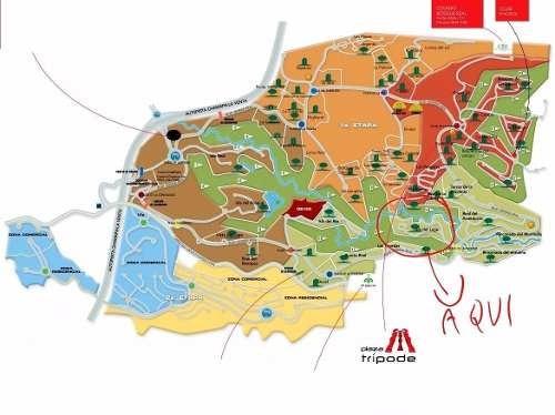 (crm-758-3853)  terreno en venta en isla del lago en bosque real, huixquilucan