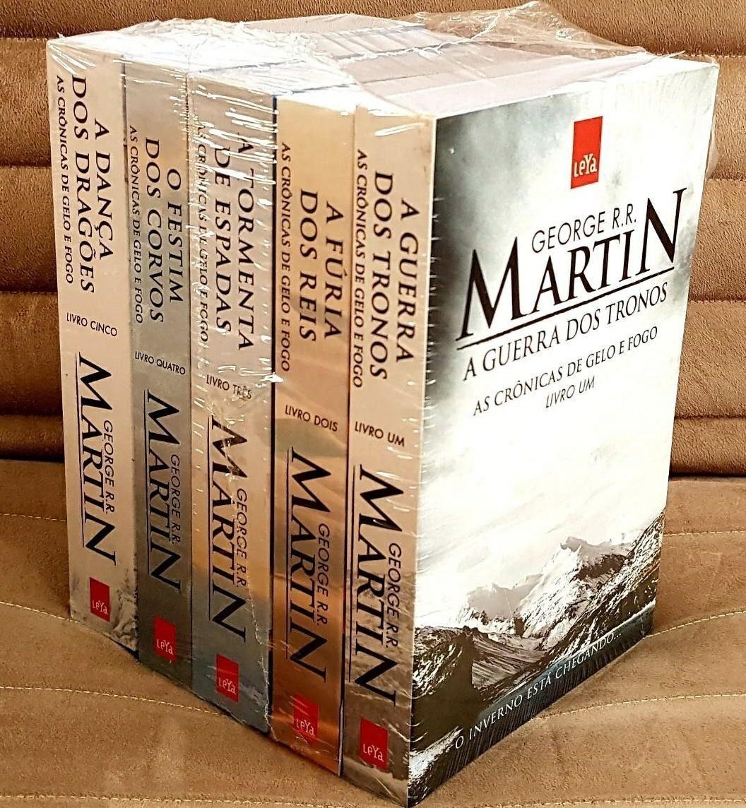 9f6a23b15 crônicas de gelo e fogo game os thrones kit 5 livros lacrado. Carregando  zoom.