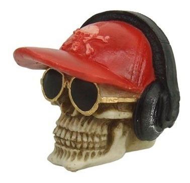 crânio caveira boné oculos rayban fone headset ouvido resina