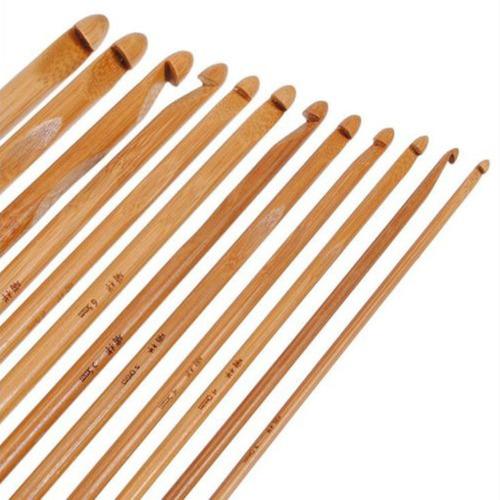crochet carbonizada jardim de bambu no. 12
