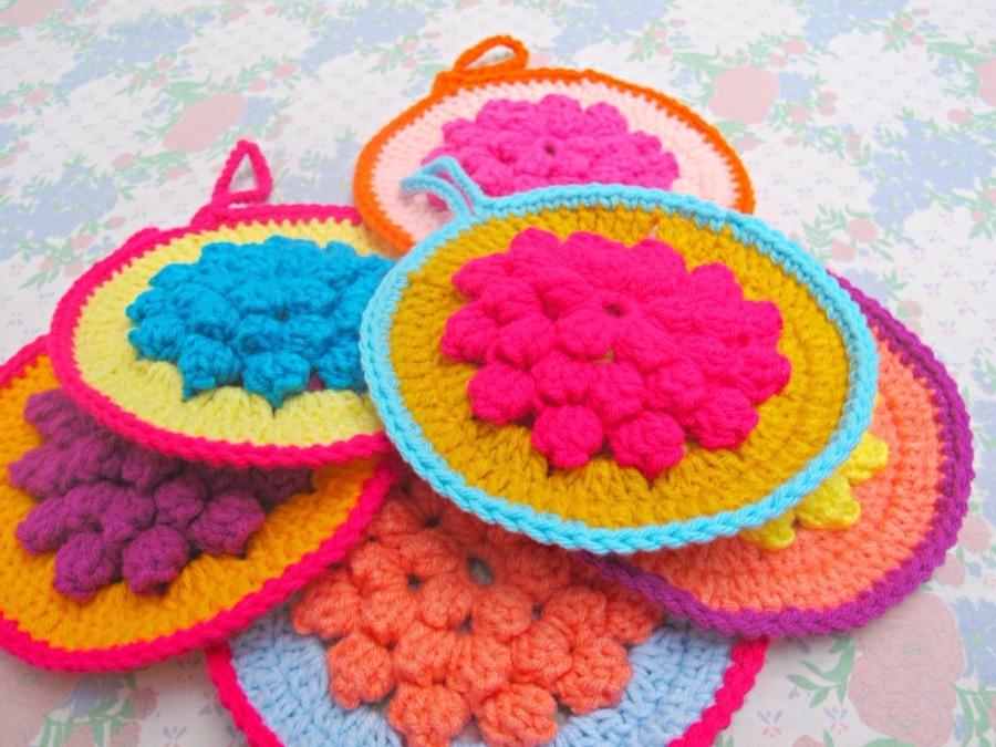 Crochet Macetas Cupcakes Agarraderas Bolsas Souvenirs - $ 150,00 en ...