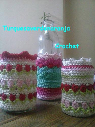crochet manteles agarraderas posavasos cubre-frascos y mas !