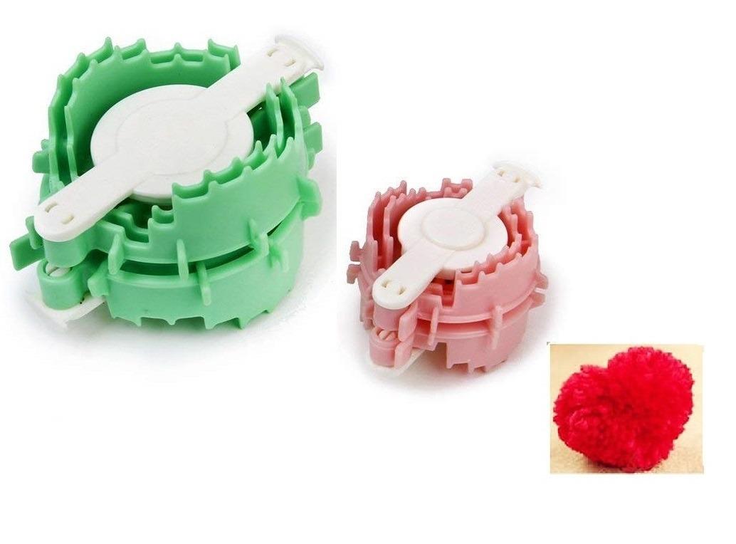 Crochet Set 2 Pomponera Corazon Pompom Pom Pom Maker Navidad - $ 250 ...